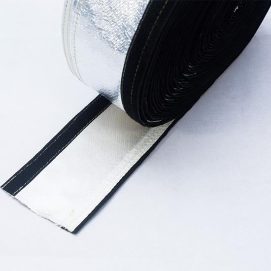 Heat Shield Sleeve with Hook and Loop Seam