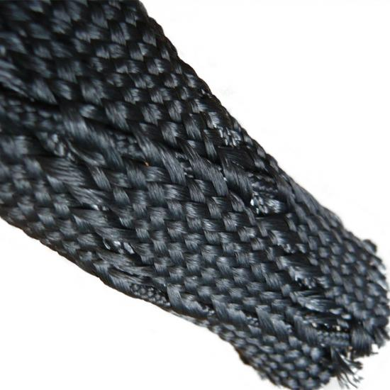 High Temp Acrylic Resins Heavy Duty Braided Cable Sleeving